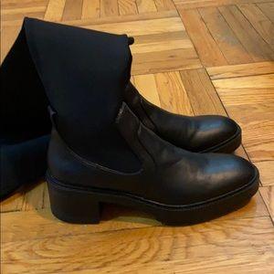 Zara black over the knee boots.